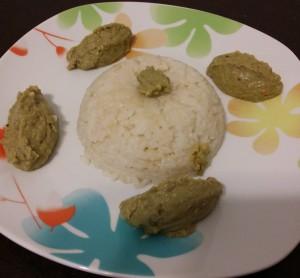 timballo di riso con quenelle di fave (1)